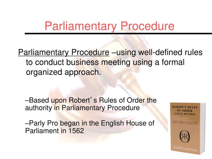 ppt - parliamentary procedure powerpoint presentation