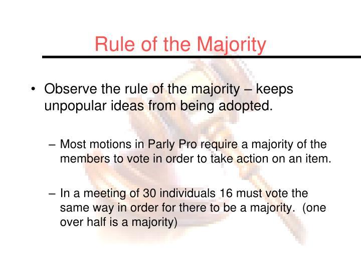 Rule of the Majority