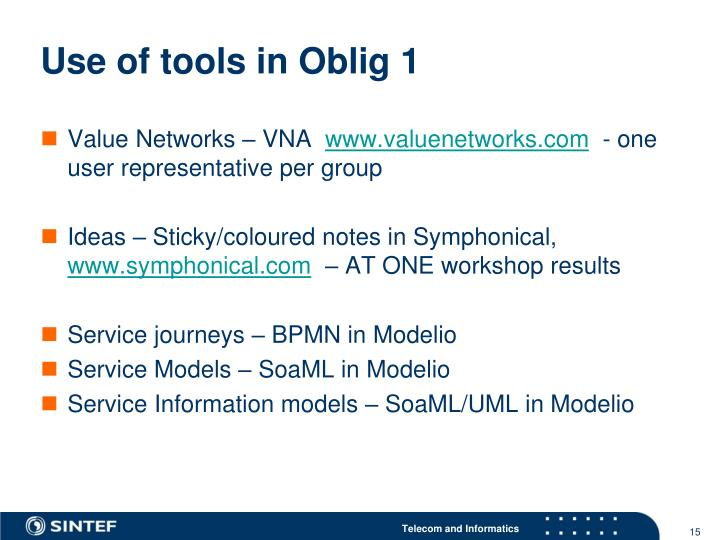 Use of tools in Oblig 1