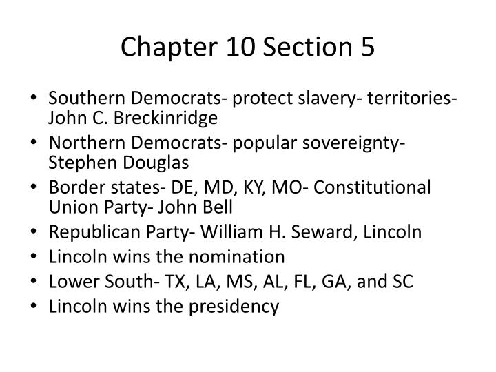 Chapter 10 Section 5