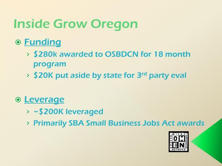 Inside Grow Oregon