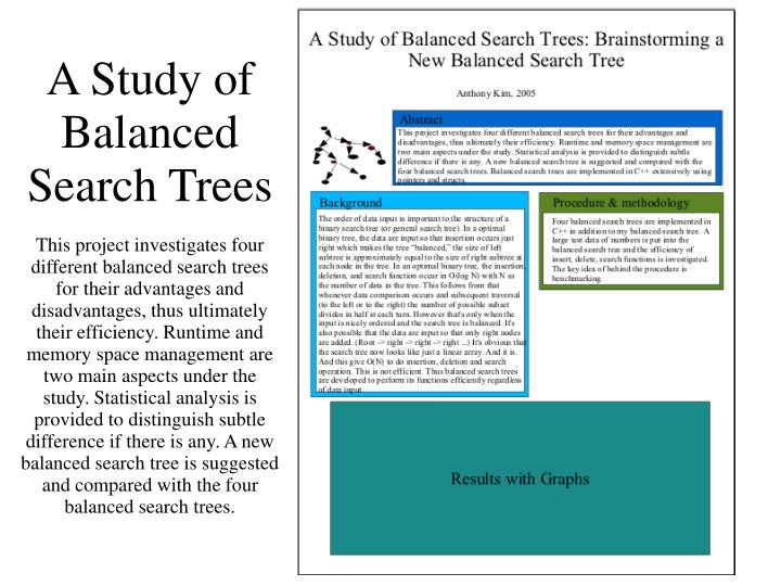 A Study of Balanced Search Trees