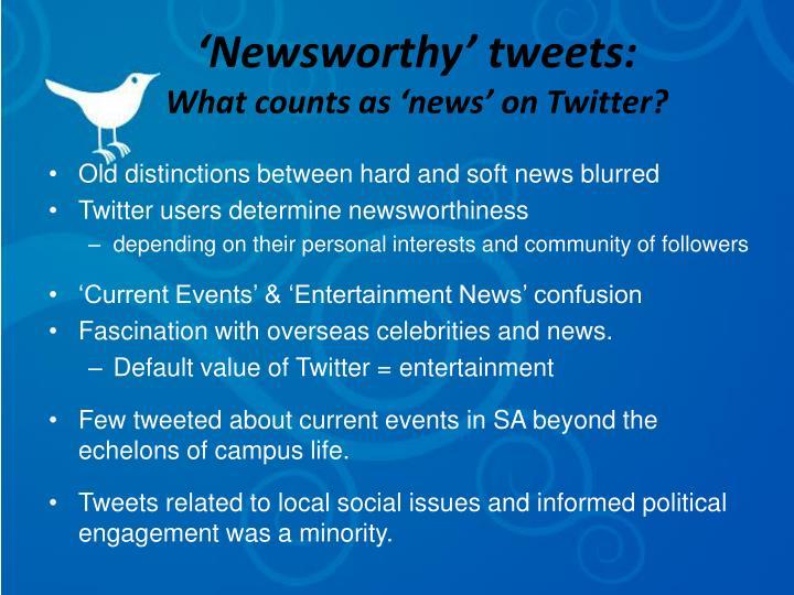 'Newsworthy' tweets: