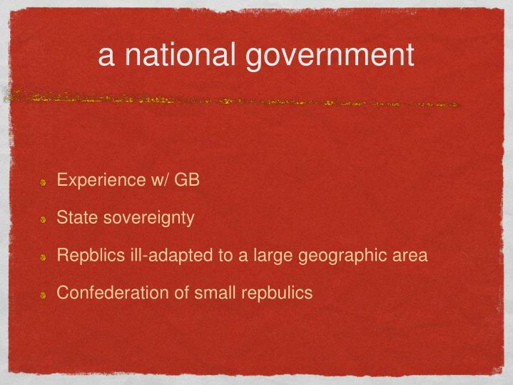 a national government
