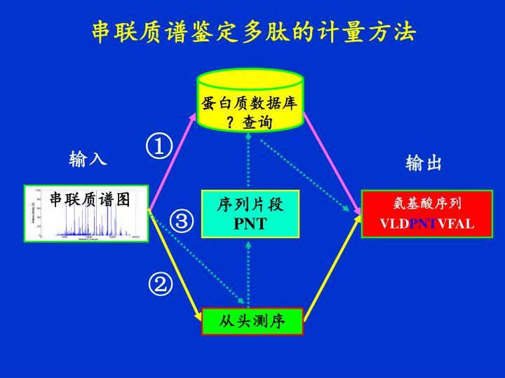 串联质谱鉴定多肽的计量方法