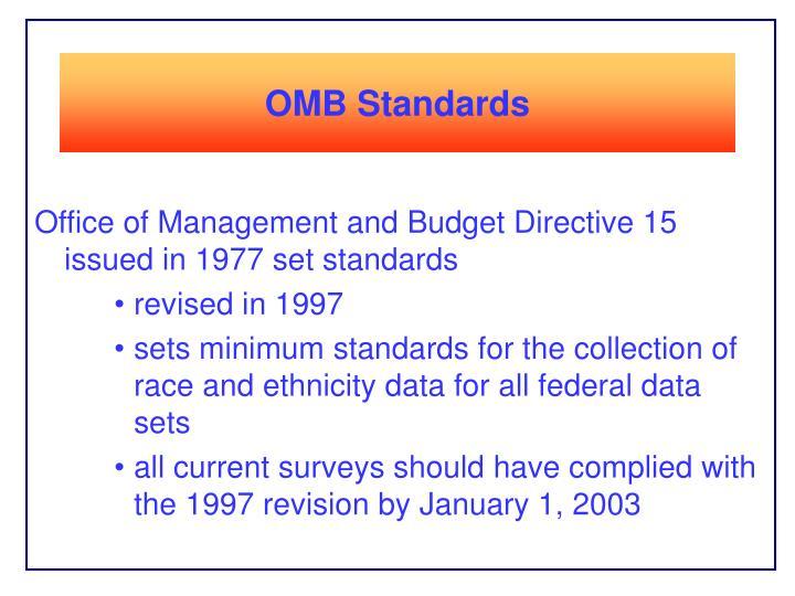 OMB Standards