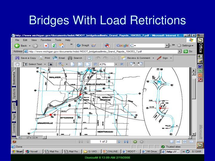 Bridges With Load Retrictions