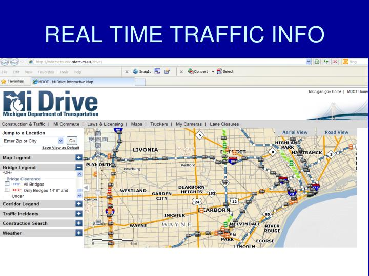 REAL TIME TRAFFIC INFO