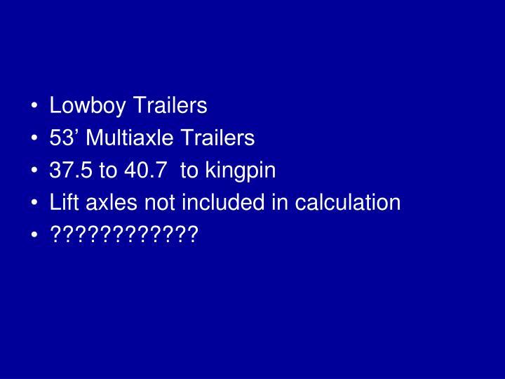 Lowboy Trailers