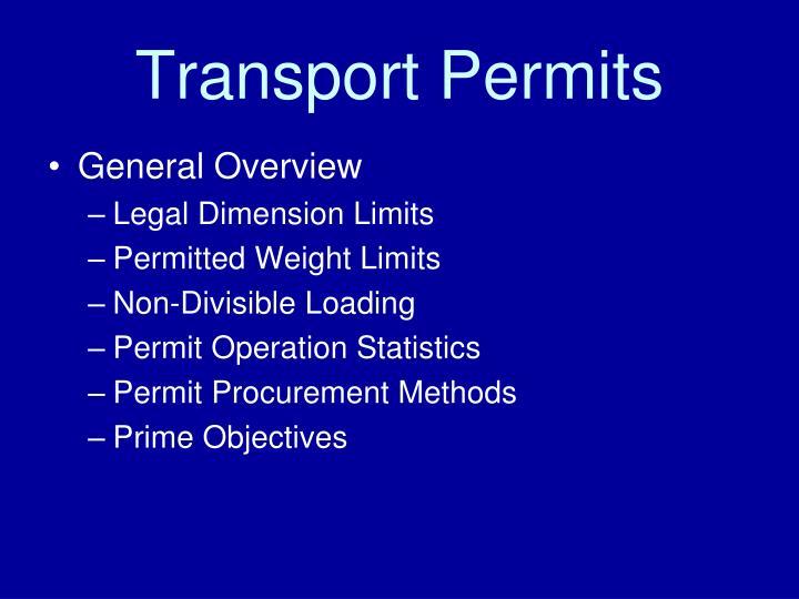Transport Permits