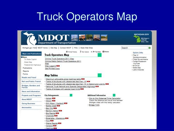 Truck Operators Map