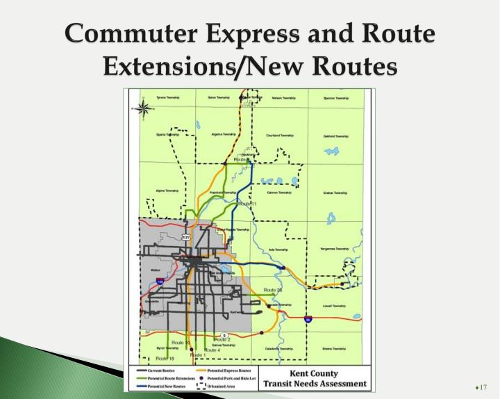 Commuter Express and Route Extensions/New Routes
