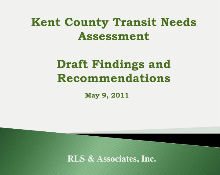 Kent County Transit Needs Assessment