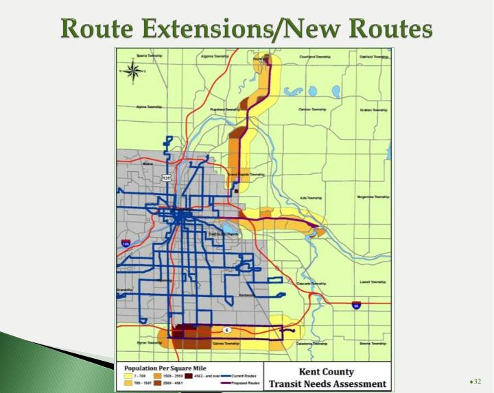 Route Extensions/New Routes