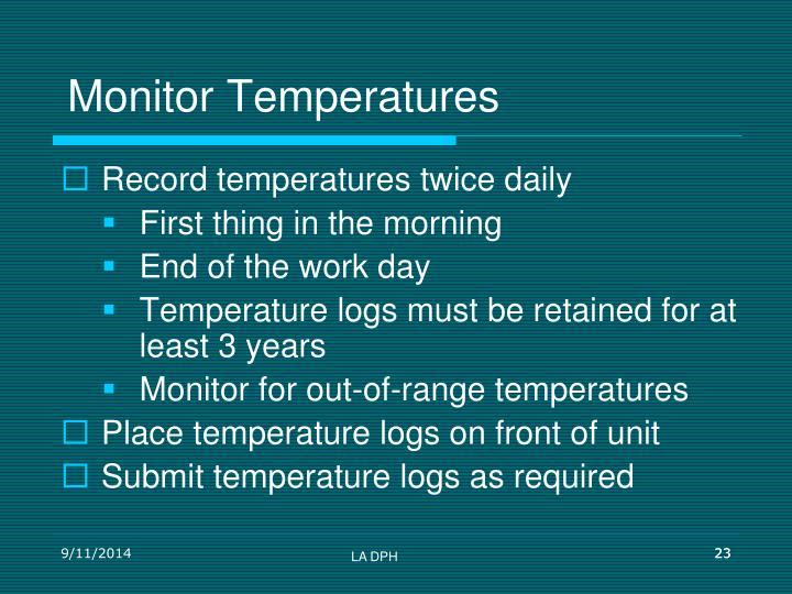 Monitor Temperatures