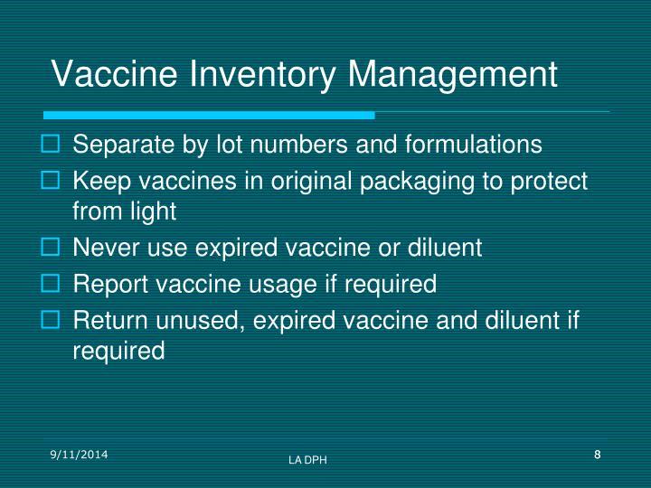 Vaccine Inventory Management