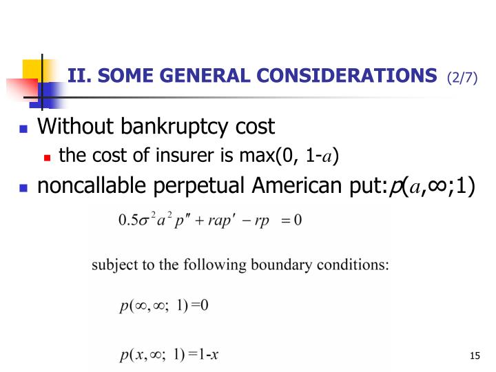II. SOME GENERAL CONSIDERATIONS