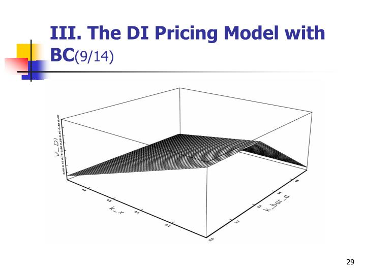 III. The DI Pricing Model with BC