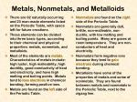 metals nonmetals and metalloids