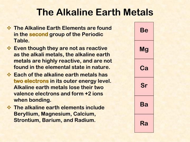 The Alkaline Earth Elements are found in the