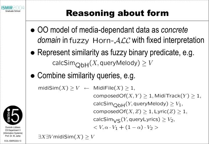 Reasoning about form