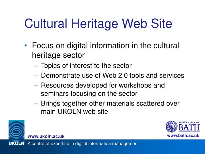 Cultural heritage web site