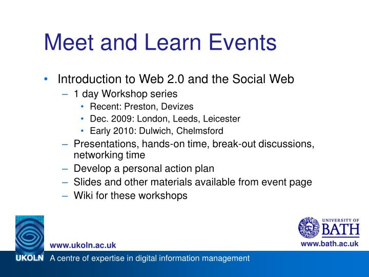 Meet and Learn Events