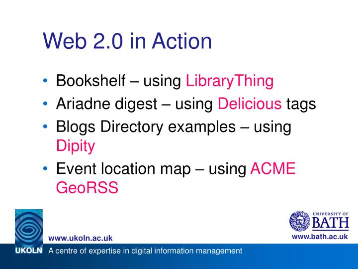 Web 2.0 in Action