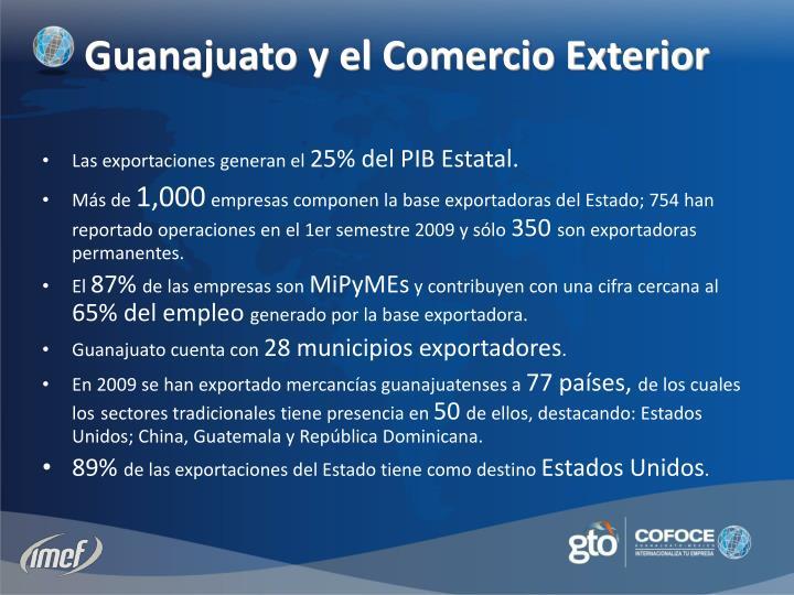 Las exportaciones generan el