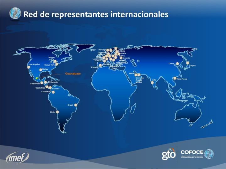 Red de representantes internacionales