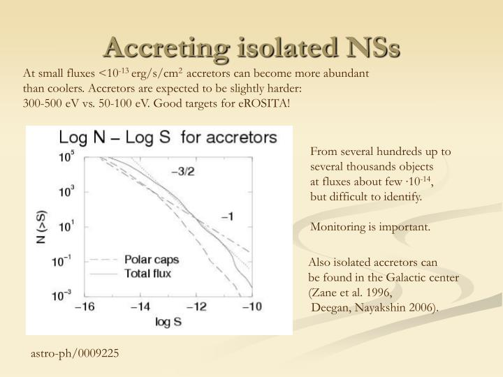 Accreting isolated NSs