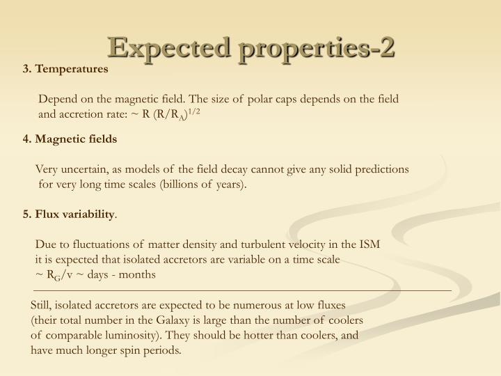 Expected properties-2