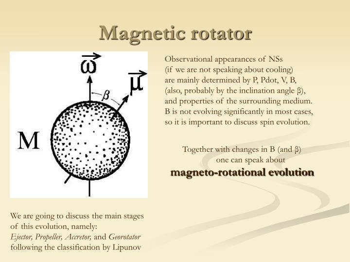 Magnetic rotator