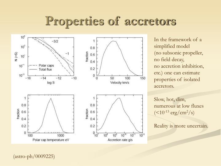 Properties of accretors