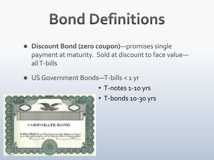 Bond Definitions
