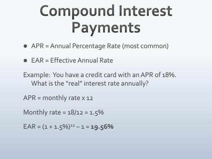 Compound Interest Payments