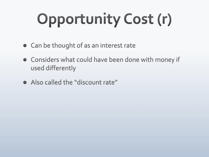 Opportunity Cost (