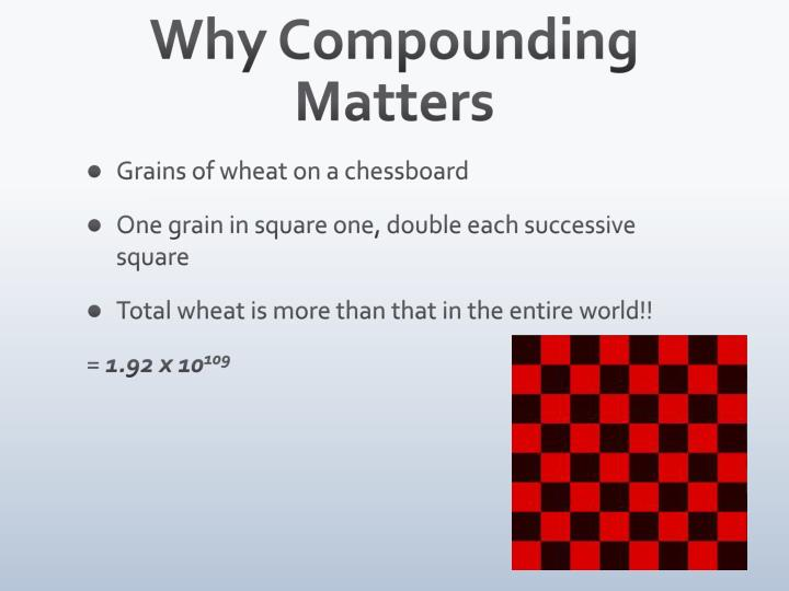 Why Compounding Matters