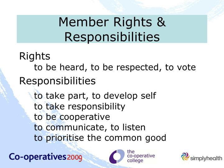Member Rights & Responsibilities