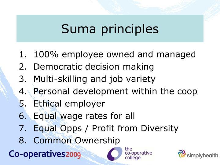 Suma principles