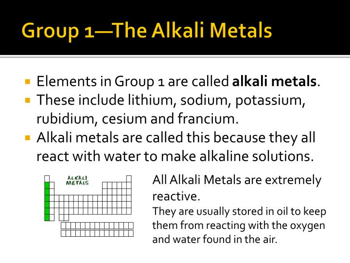 Group 1—The Alkali Metals