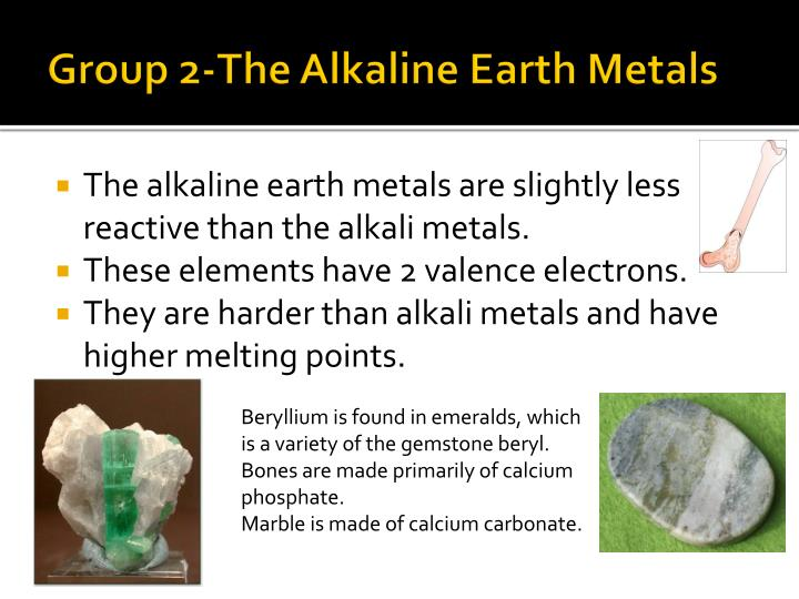 Group 2-The Alkaline Earth Metals
