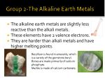 group 2 the alkaline earth metals1