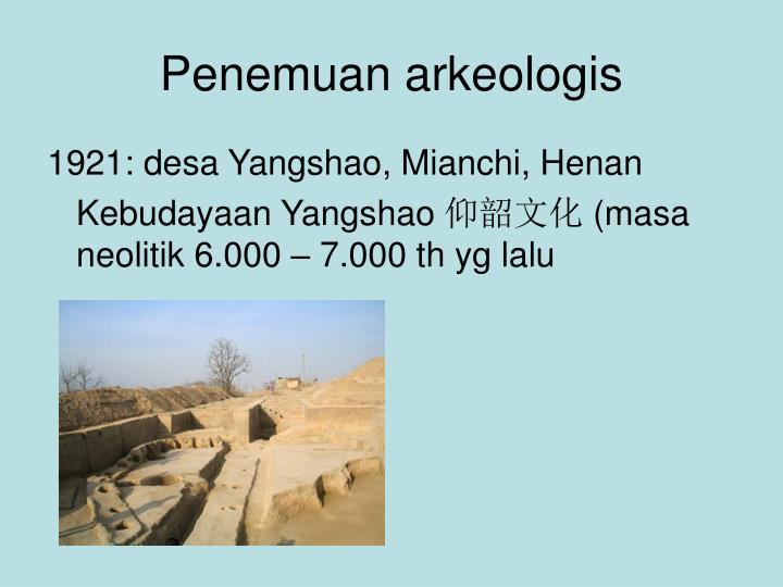 Penemuan arkeologis