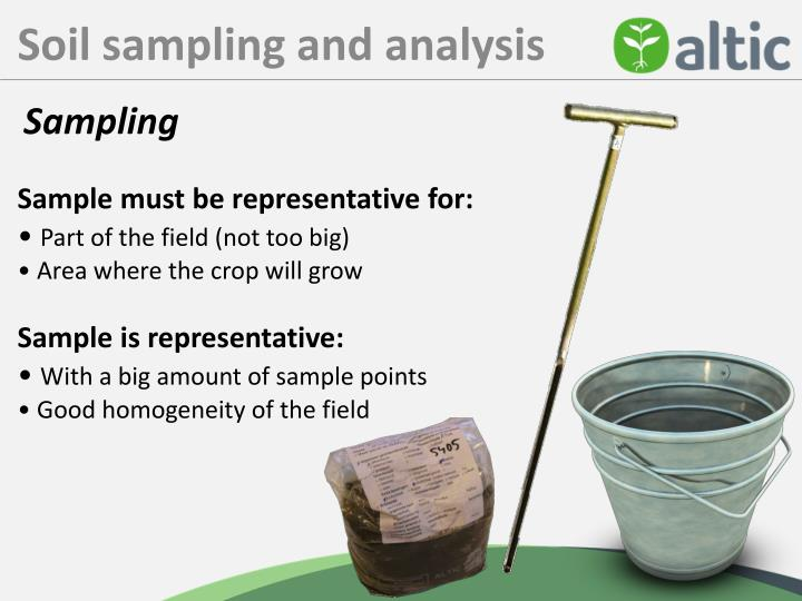 Soil sampling and analysis