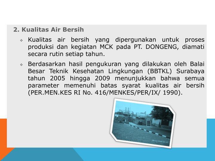 2. Kualitas Air Bersih