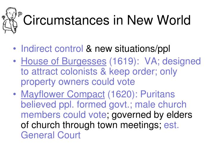 Circumstances in New World
