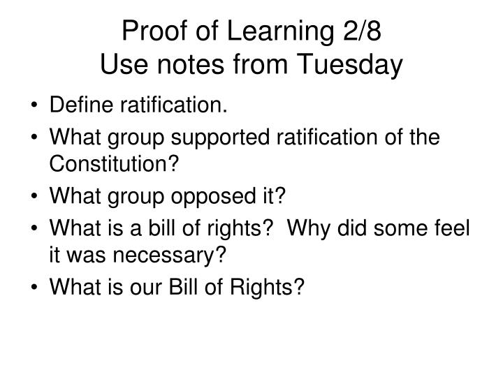 Proof of Learning 2/8
