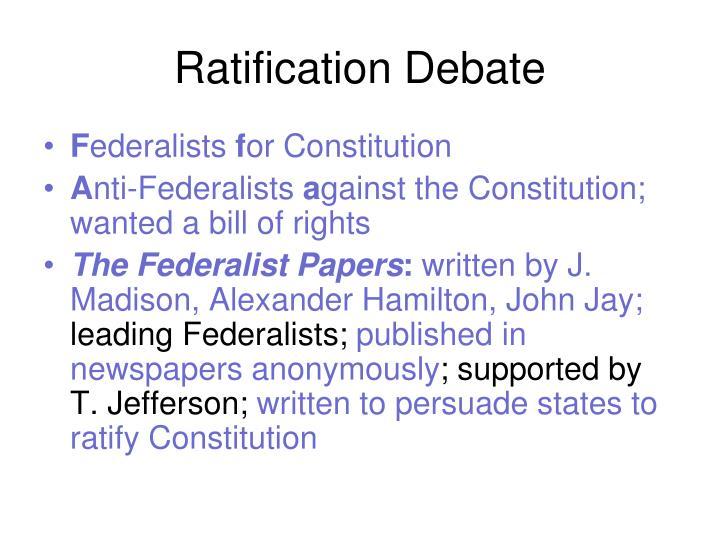 Ratification Debate