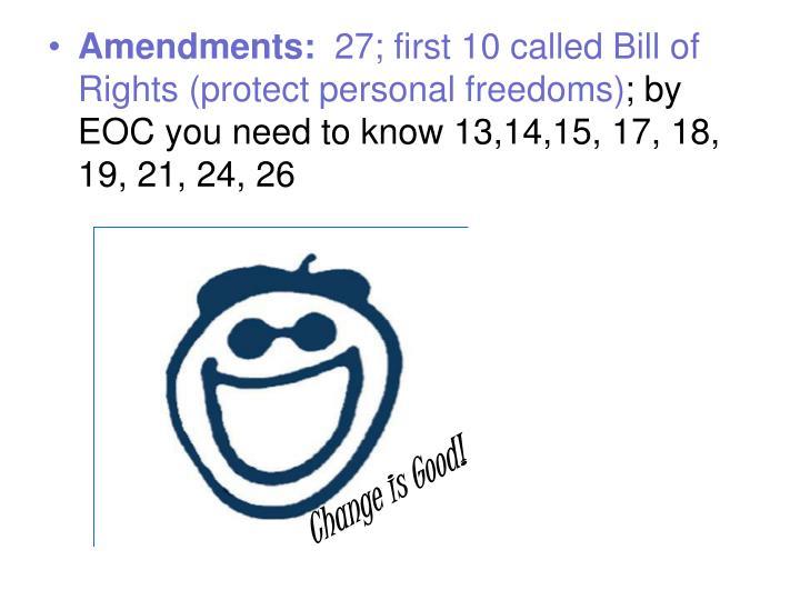 Amendments: